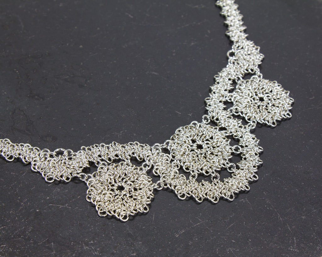 Lace Chainmaille Statement Bridal Necklace