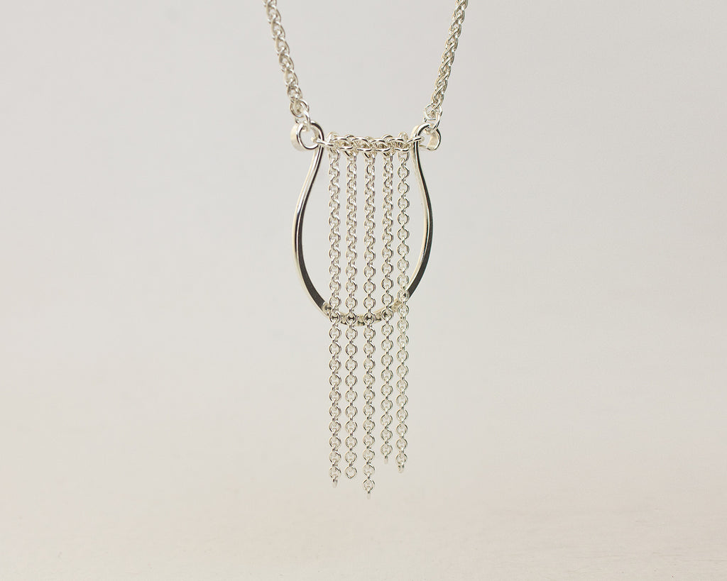 Lyre Harp Forged Necklace