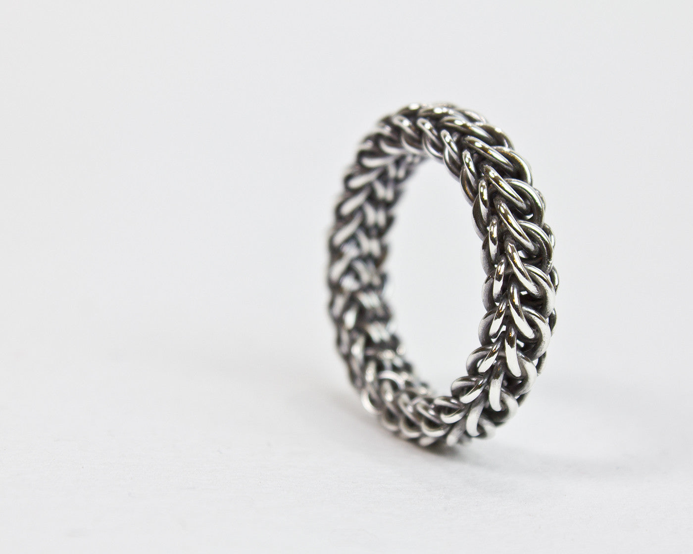 Fused Persianique Chainmaille Band Ring - Femailler