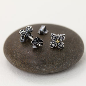Star Flower Fused Chainmaille Post Earrings - Femailler