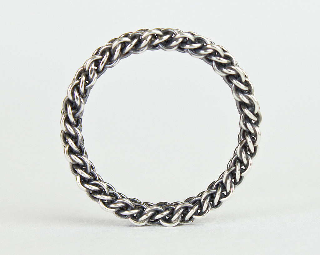 Thin Fused Bramble Chainmaille Band Ring