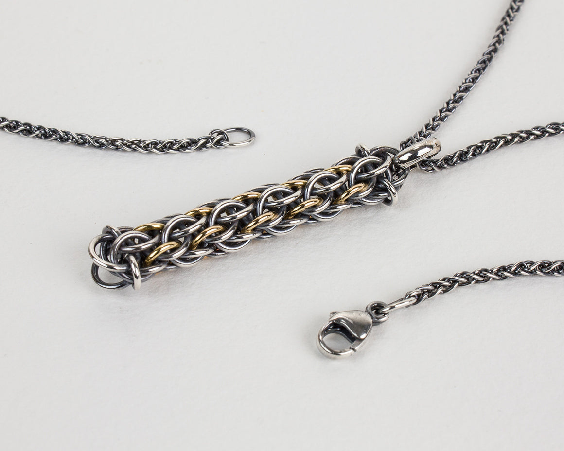Totem Fused Chainmaille Pendant Necklace