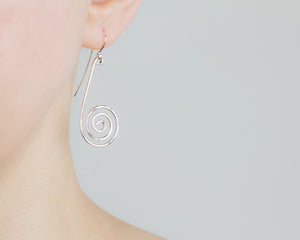 Forged Swirl Drop Earrings - Femailler