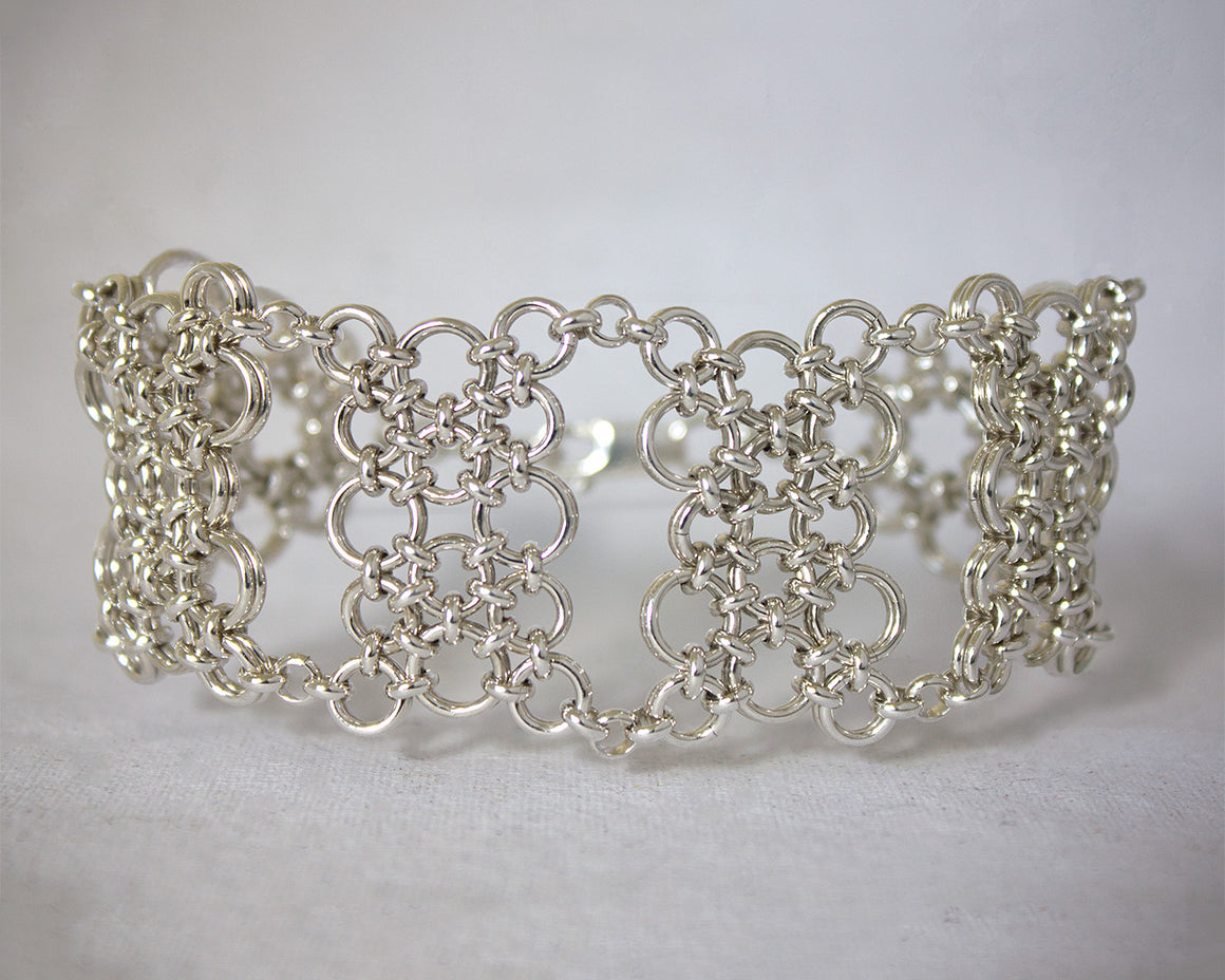 Wide Cobblestone Chainmaille Link Bracelet