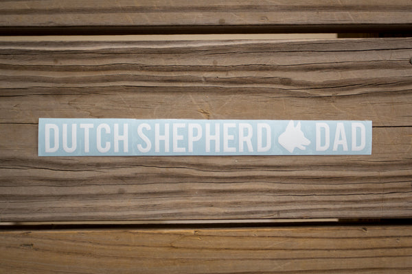 Dutch Shepherd Dad Sticker