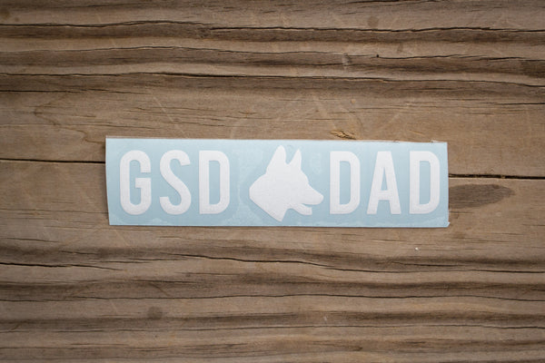 GSD Dad Sticker