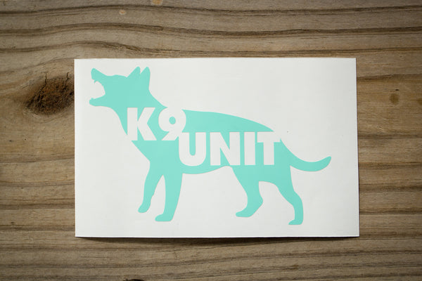 K9 UNIT Sticker (2 pack)