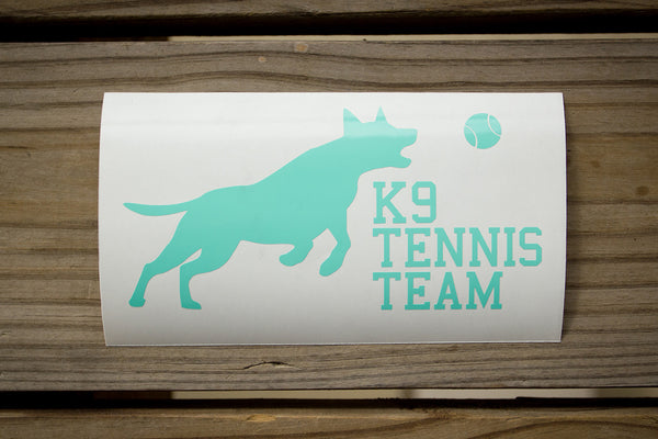 K9 Tennis Team Sticker