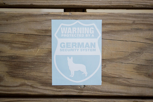 German Shepherd Security Sticker (2 pack)