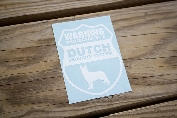Dutch Shepherd Security Sticker