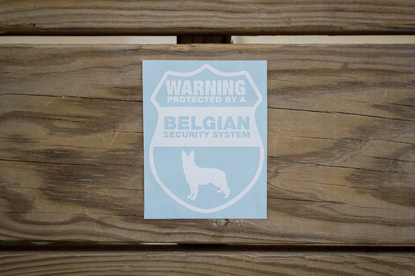 Belgian Malinois Security Sticker (2 pack)