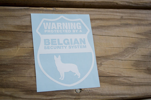 Belgian Malinois Security Sticker