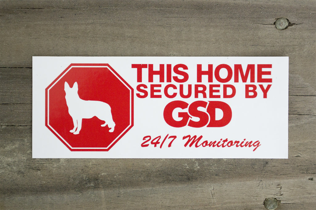 Secured By GSD Stickers (2 pack)