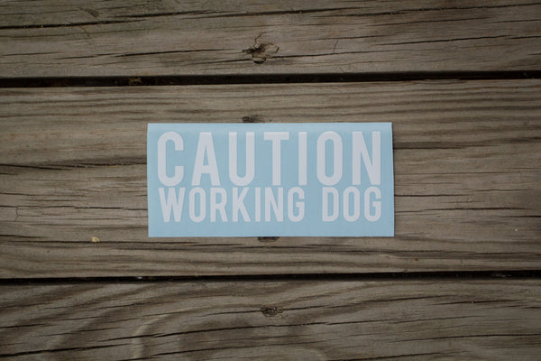 """Working Dog"" Decal"