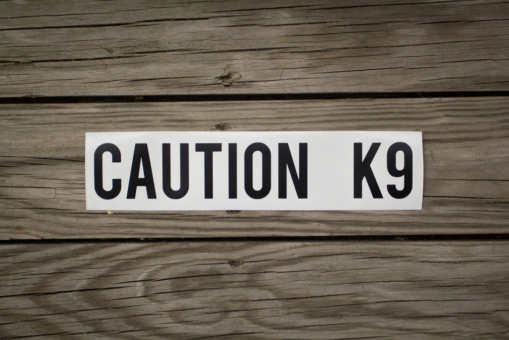 """Caution K9"" Decal"
