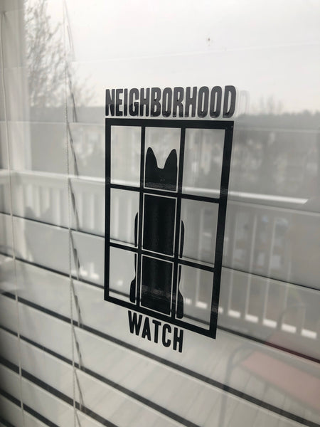 """Neighborhood Watch"" Sticker"