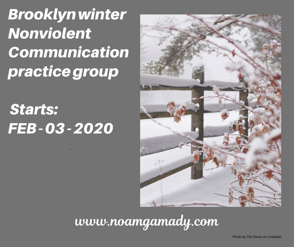 Monday Feb 3 - Brooklyn Nonviolent communication - practice group