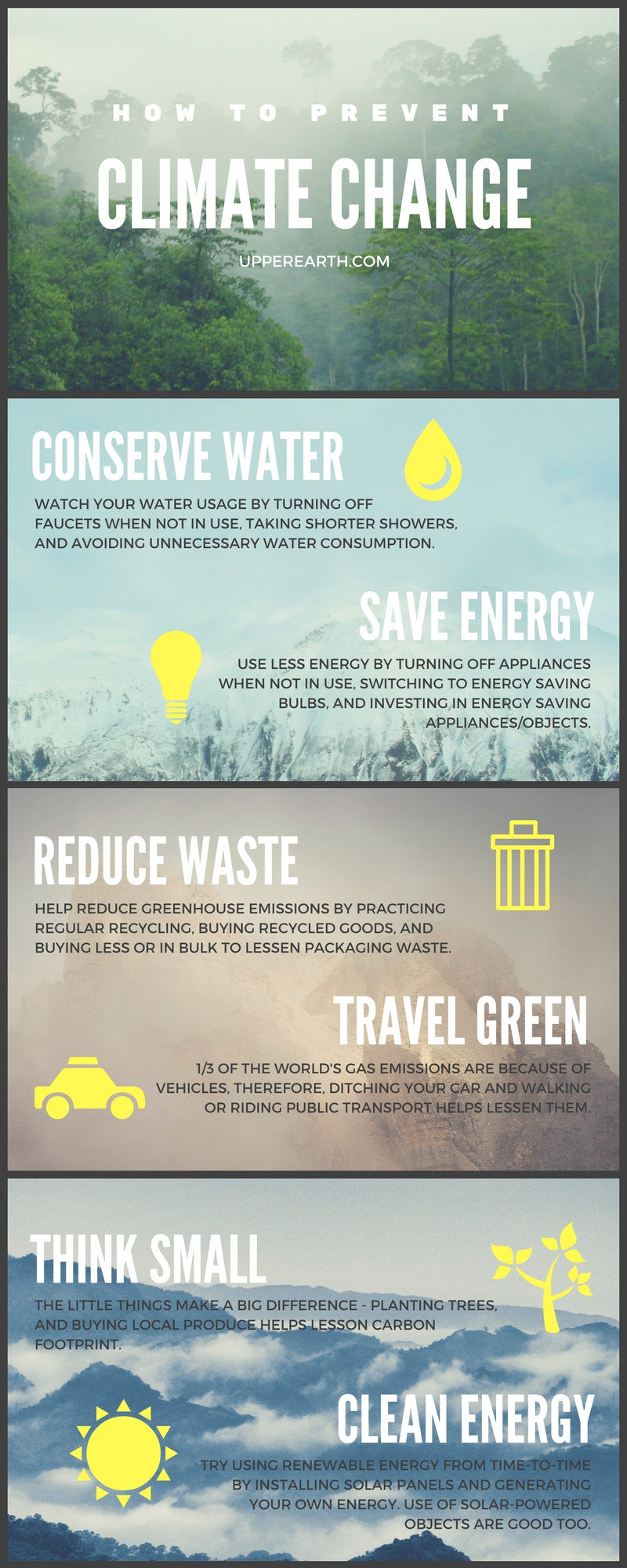 6 ways to prevent climate change