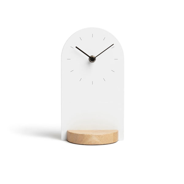 Wood & Metal Desk Clock