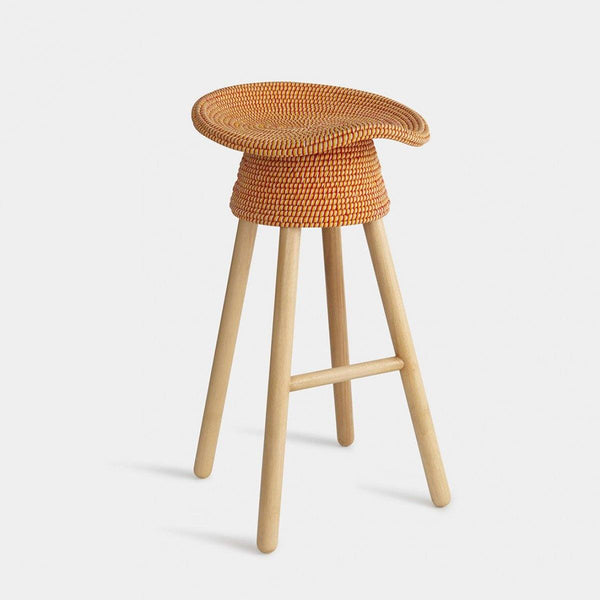 Handwoven Rattan Counter Stool