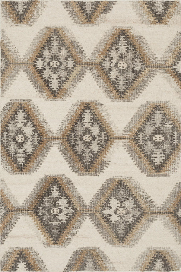 Ivory & Camel Handwoven Wool Area Rug - Akina - Upper Earth