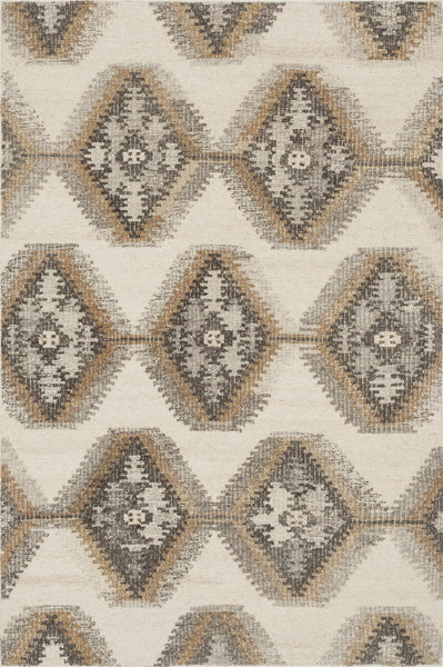 Akina Handwoven Area Rug in Ivory and Camel - Upper Earth