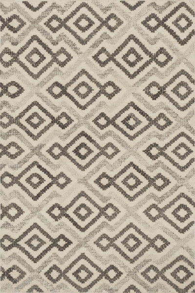 Akina Handwoven Area Rug in Ivory and Grey - Upper Earth