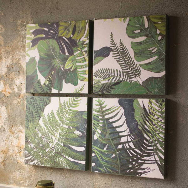 Set of 4 Oil Paintings - Botanicals - Upper Earth