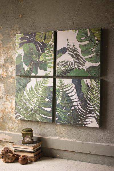 Set of 4 Oil Paintings - Botanicals