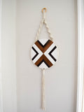 Mia - Round Macrame Wood Art