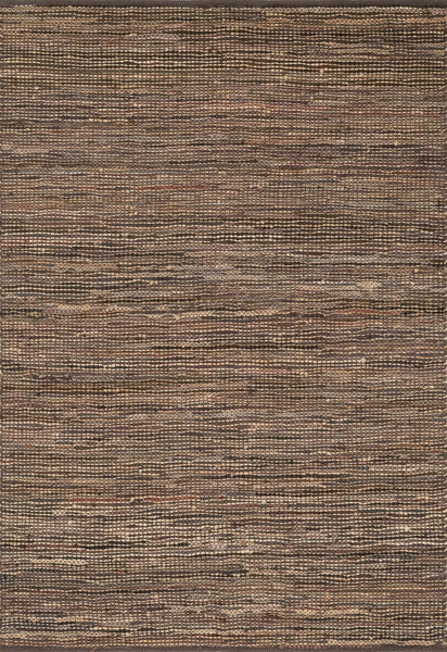 Edge Handwoven Area Rug in Brown - Upper Earth