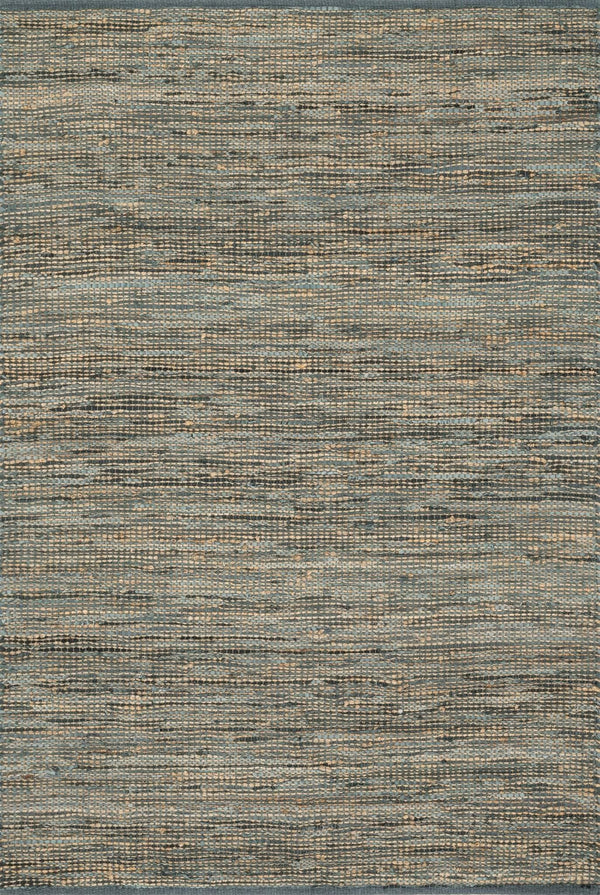 Grey Handwoven Jute Area Rug - Edge - Upper Earth