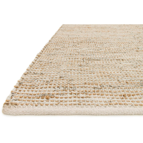 Edge Handwoven Area Rug in Ivory - Upper Earth
