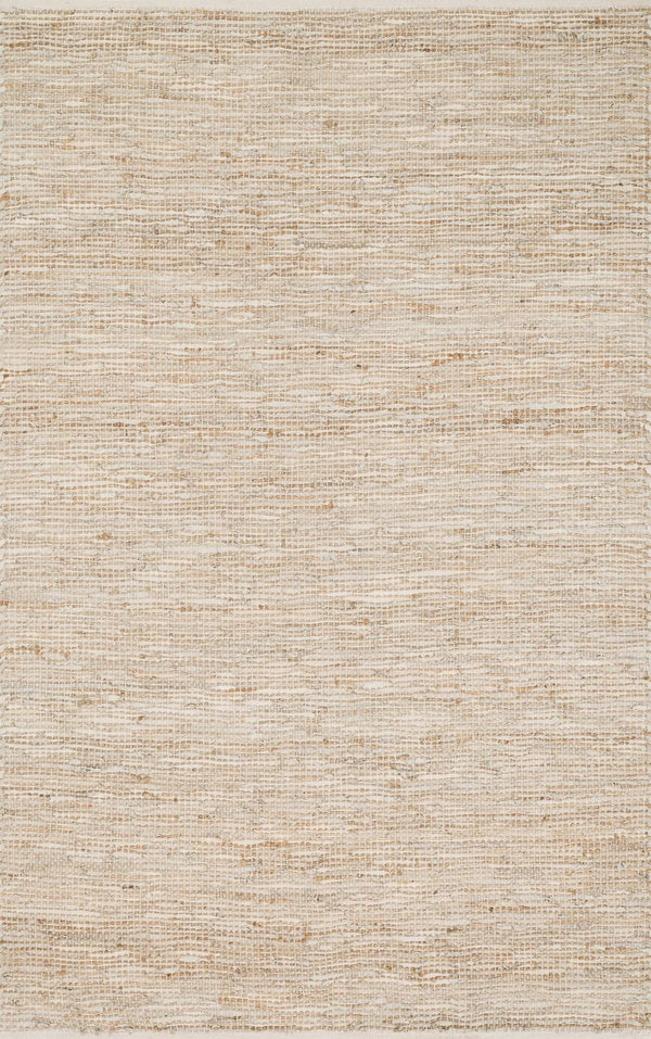 Ivory Handwoven Jute Area Rug - Edge - Upper Earth