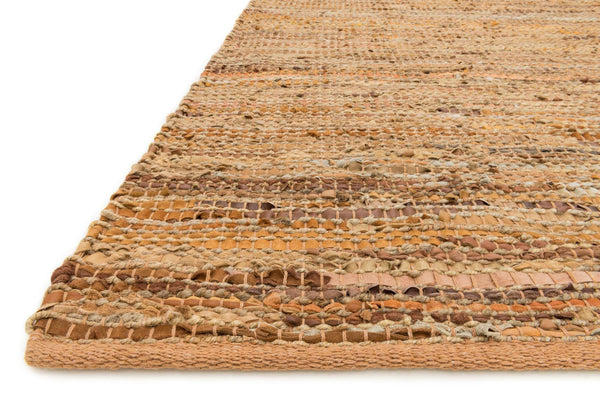 Edge Handwoven Area Rug in Tan - Upper Earth