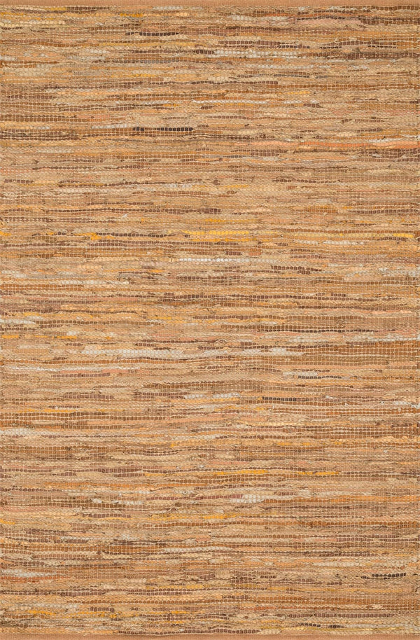 Tan Handwoven Jute Area Rug - Edge - Upper Earth