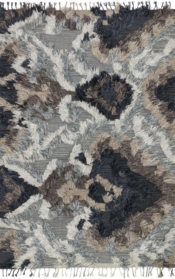 Grey & Blue Handwoven Viscose Area Rug - Fable - Upper Earth