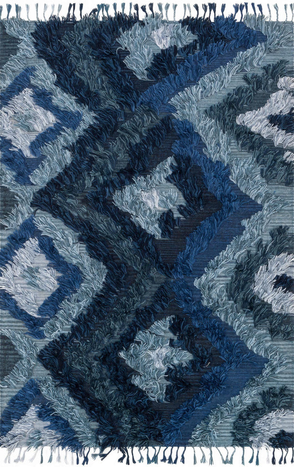 Indigo Handwoven Viscose Area Rug - Fable - Upper Earth