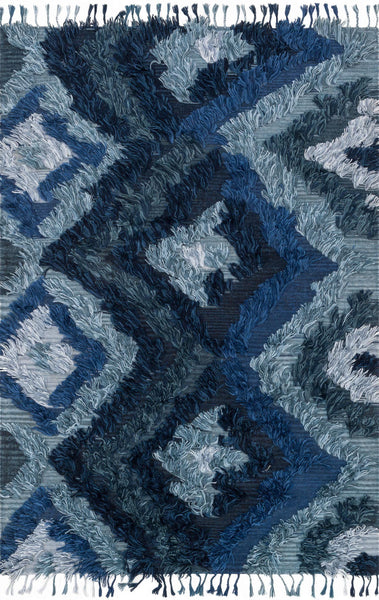 Fable Handwoven Area Rug in Indigo - Upper Earth