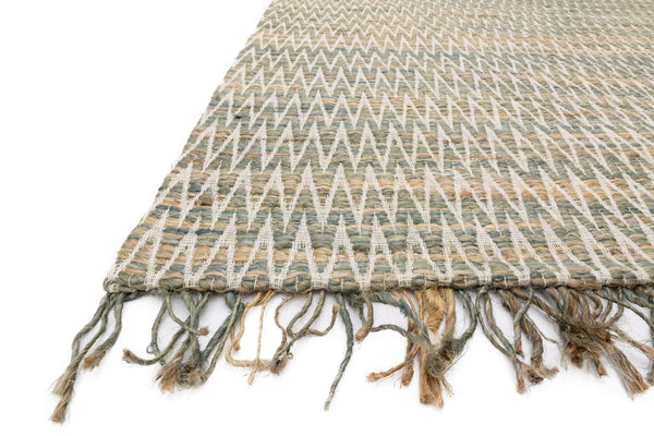 Gerald Handwoven Area Rug in Fog - Upper Earth
