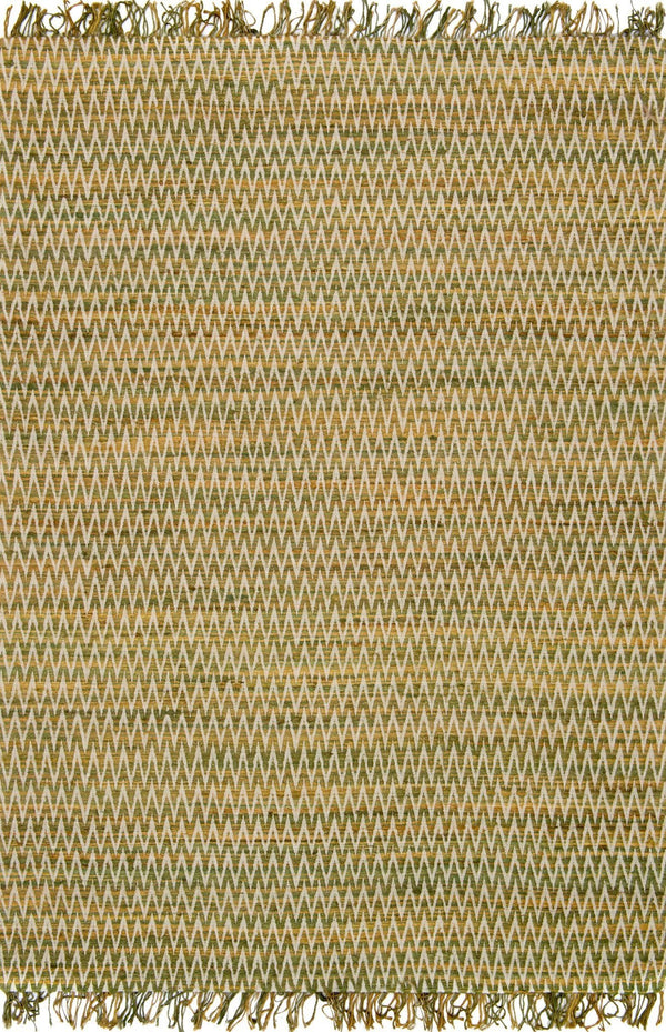 Green Handwoven Viscose Area Rug - Gerald - Upper Earth