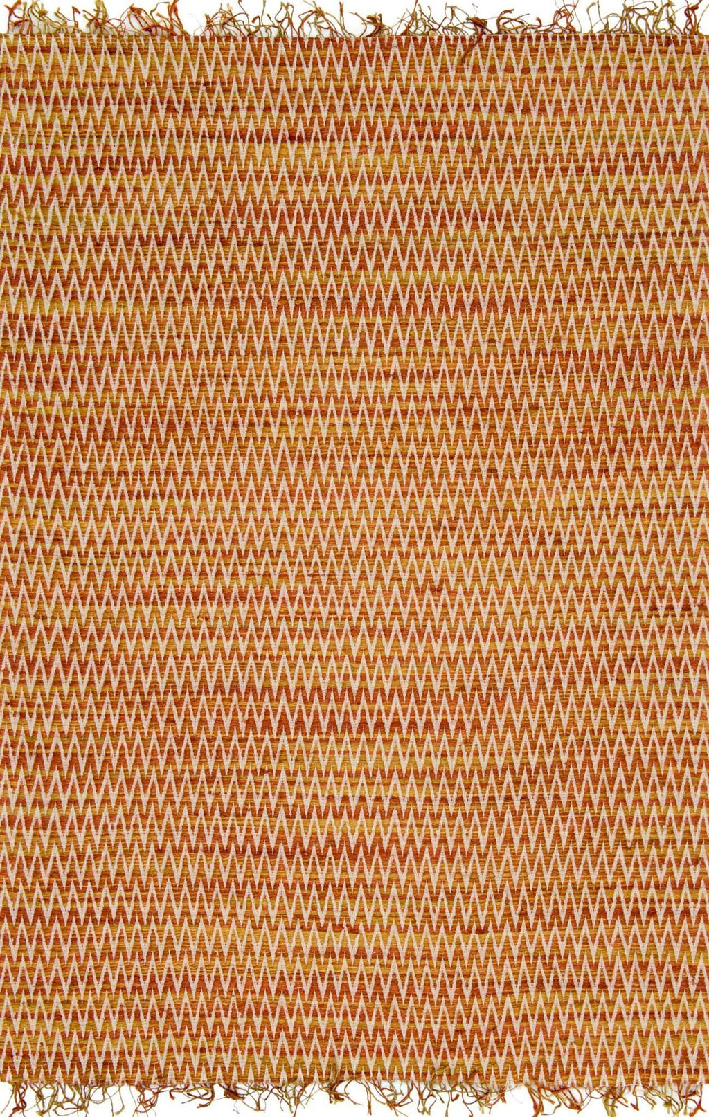 Orange & Yellow Handwoven Viscose Area Rug - Gerald - Upper Earth