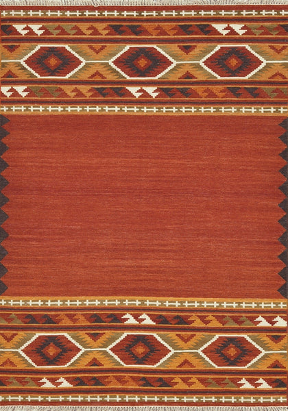 Isara Handwoven Area Rug in Red Gold - Upper Earth