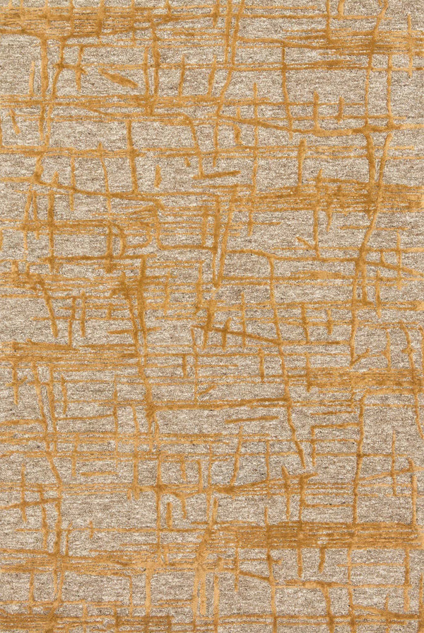Natural Gold Viscose Area Rug - Juneau - Upper Earth