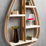 Large Eco-Friendly Wooden Shelf - 5 shelves with Natural Finish - Upper Earth