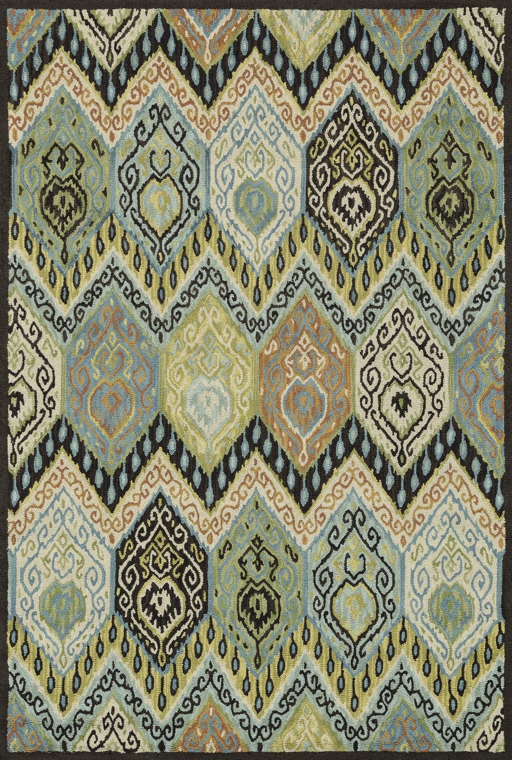Multi Color Wool Area Rug - Mayfield - Upper Earth