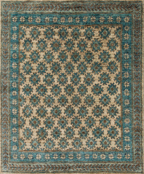 Nomad Jute Area Rug in Blue/Beige - Upper Earth