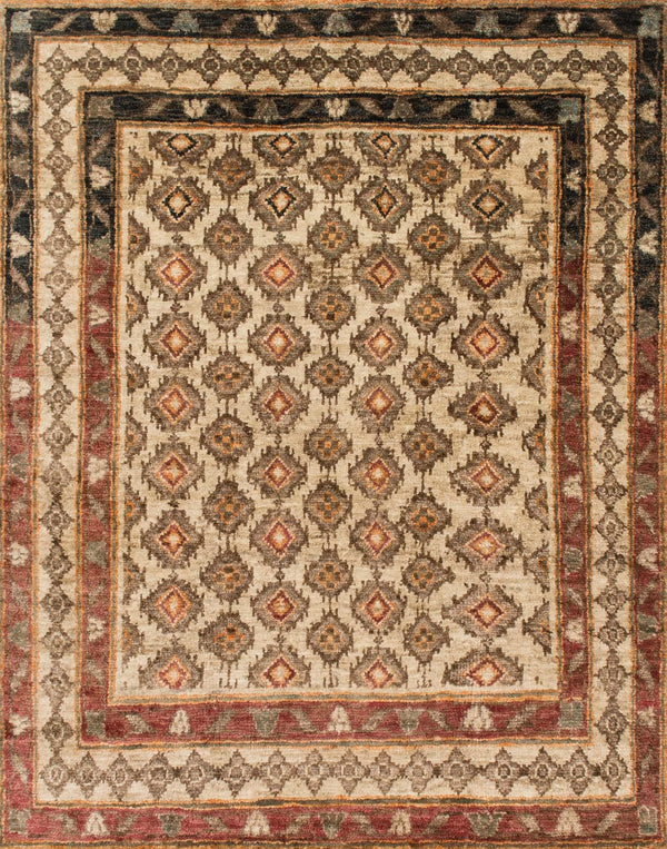 Red & Brown Jute Area Rug - Nomad - Upper Earth