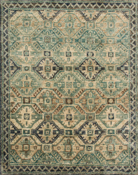 Nomad Pattern Area Rug in Blue/Aqua - Upper Earth