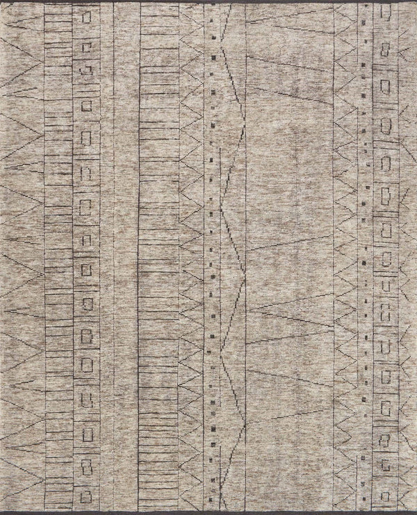 Natural & Ash Wool Area Rug - Odyssey - Upper Earth